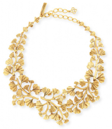 Bergdorf Goodman: Oscar De La Renta Gold Plated Fern Necklace $476