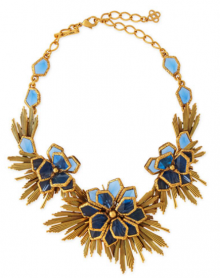 Bergdorf Goodman: Oscar de la Renta Blue Wild Flower Necklace $700