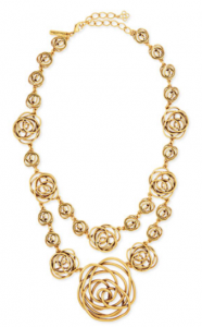 Bergdorf Goodman: Oscar de la Renta Rose-Motif Wire Necklace $455