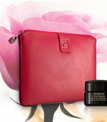 Lancome: Leather Pouch & Deluxe Sample GWP with $125+