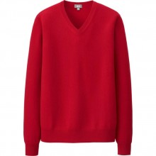 UNIQLO: Men's Cashmere V-Neck Sweater (4 colors) $30