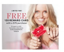 Victoria's Secret: $20 Gift Card With $75 Purchase