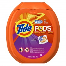 Amazon: 81-Load Tide PODS Spring Meadow HE Turbo Laundry Detergent Pacs for $15.23