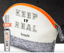 Benefit Cosmetics: Makeup Bag as Gift & Free Shipping