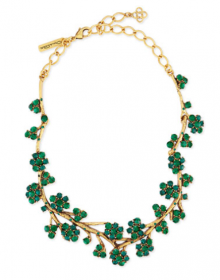 Bergdorf Goodman: Oscar de la Renta Gold-Plated Crystal Branch Necklace $390.75!