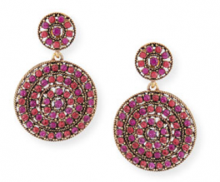 Bergdorf Goodman: Oscar de la Renta Crystal Disc Clip Drop Earrings $276