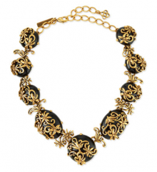 Bergdorf Goodman: Oscar de la Renta Resin Filigree Collar Necklace $720