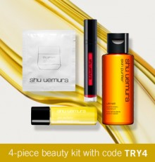 Shu Uemura: Beauty Kit & Free Shipping for $50+ and More