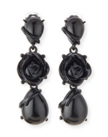 Bergdorf Goodman: Oscar de la Renta  Resin Flower Drop Clip Earrings $192