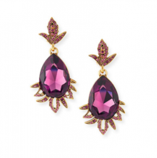Bergdorf Goodman: Oscar de la Renta  Teardrop Crystal Leaf Clip Earrings $312