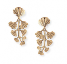 Bergdorf Goodman: Oscar de la Renta Gold-Plated Fern Clip Earrings $99