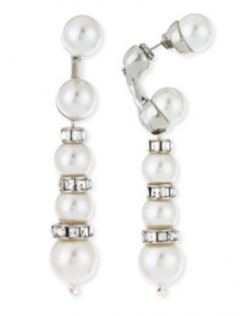 Bergdorf Goodman: Oscar de la Renta Pearly Crystal Backdrop Earrings $230