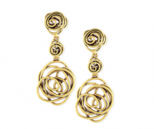 Bergdorf Goodman: Oscar de la Renta  Wire Rose Clip-On Drop Earrings $156