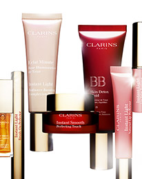 Clarins: 5 Samples as Gift with ANY Purchase
