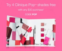 Clinique: 4 Deluxe Lipstick Samples as GWP