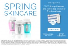 Clarisonic: 2 FREE GWP with $149 Purchase
