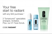 Clinique: 3 Piece 'Radiant' Set as Gift with $40+