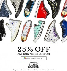 Converse: 25% Off Custom Canvas