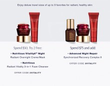 Estee Lauder: 2 Piece Gift with $50+ and Bonus with $75+