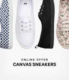 H&M: 50% Off Canvas Sneakers & Shorts from $9.99