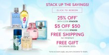 Perfumania: 25% off + $10 Off $50 + free shipping